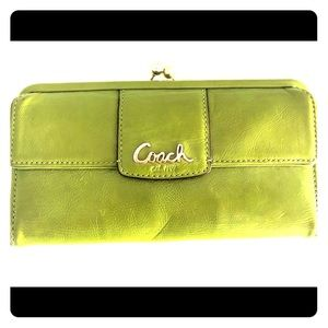 Coach patent leather wallet